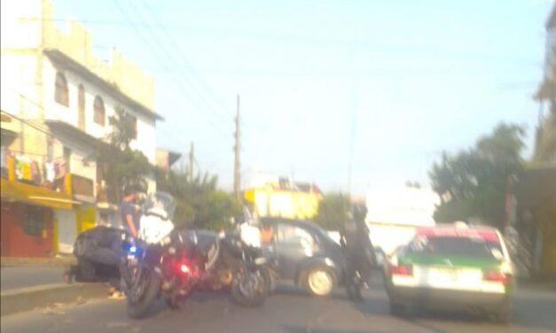 Accidente de tránsito sobre la avenida Antonio Chedraui Caram, Xalapa