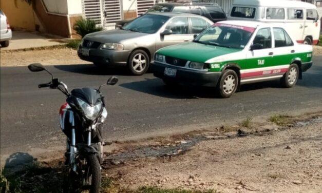 Accidente en la avenida Antonio Chedraui, a la altura de la colonia Higueras