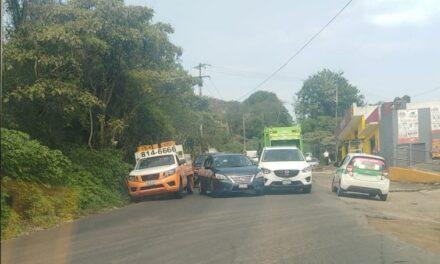 Accidente de tránsito sobre la avenida Antonio Chedraui Caram, a la altura de Higueras
