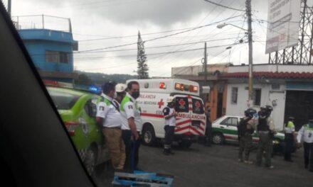 Motociclista lesionado a la altura de la Piedad, en Xalapa