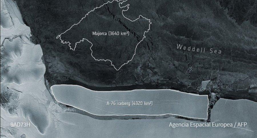 Se desprendió de la Antártida el iceberg más grande del mundo