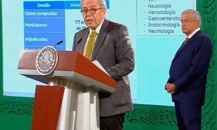 Mediante UNOPS México ha comprado 724 millones de medicamentos