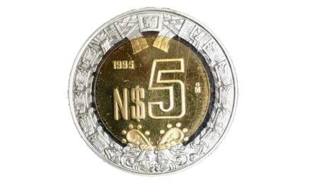 Esta moneda de 5 pesos se oferta en más de 3 mil en internet