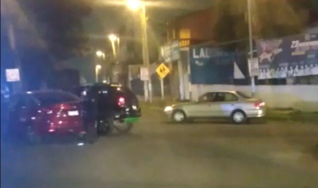 Accidente de tránsito en la avenida Américas y Maestros Veracruzanos