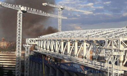 Reportan incendio en el estadio del Real Madrid