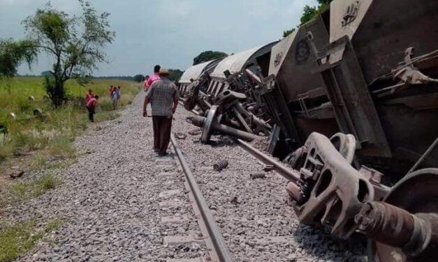 Se descarrila el tren en Tres Valles; no se reportan heridos