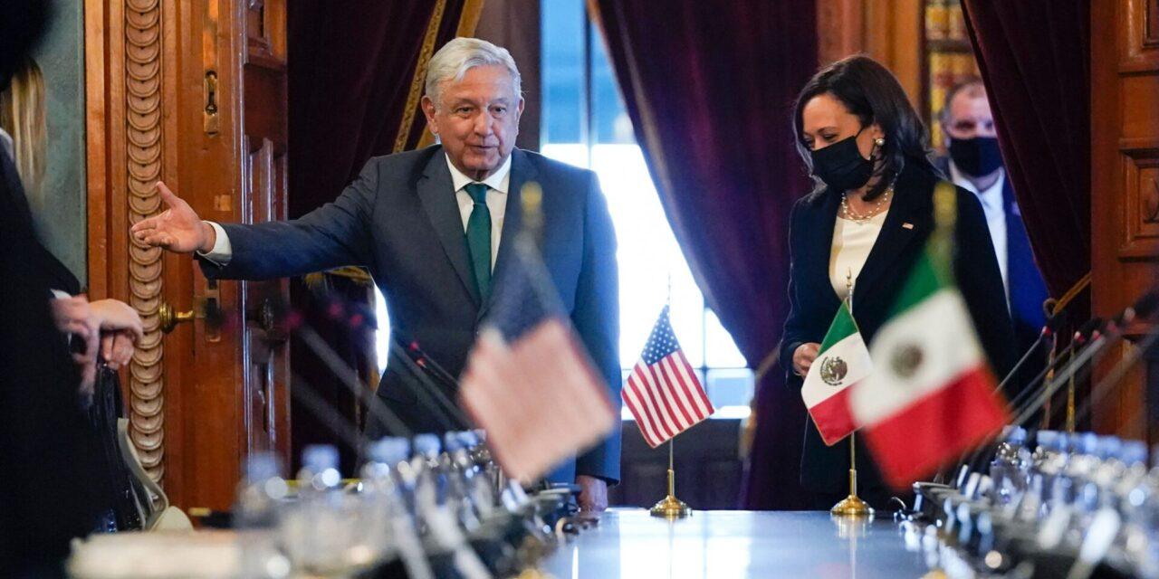 Finaliza la reunión entre la Vicepresidenta de Estados Unidos, Kamala Harris y el Presidente de México