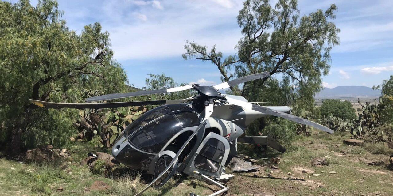 Cae helicóptero militar en límites de Villa de Tezontepec