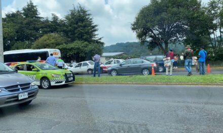 7 vehículos involucrados en accidente sobre el bulevar Xalapa- Banderilla