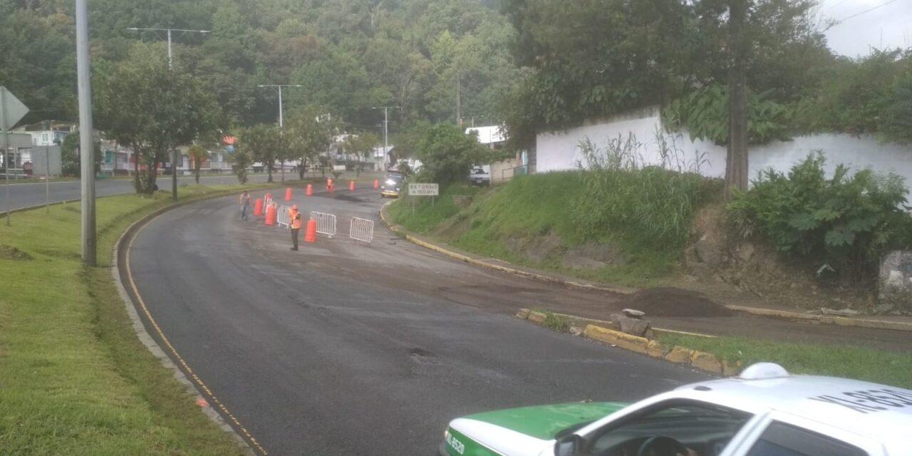 Inician rehabilitación de carretera Xalapa-Banderilla; informan vías alternas