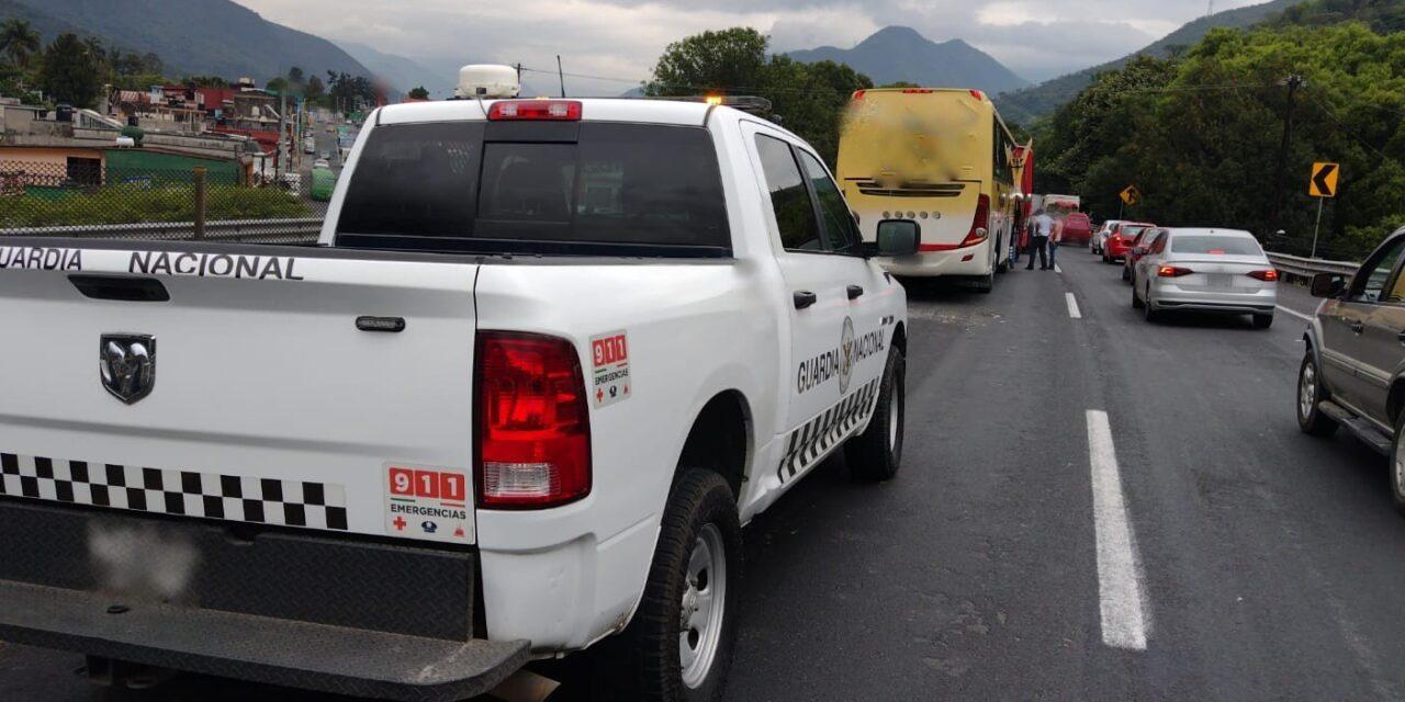 Accidente en la autopista Puebla-Córdoba