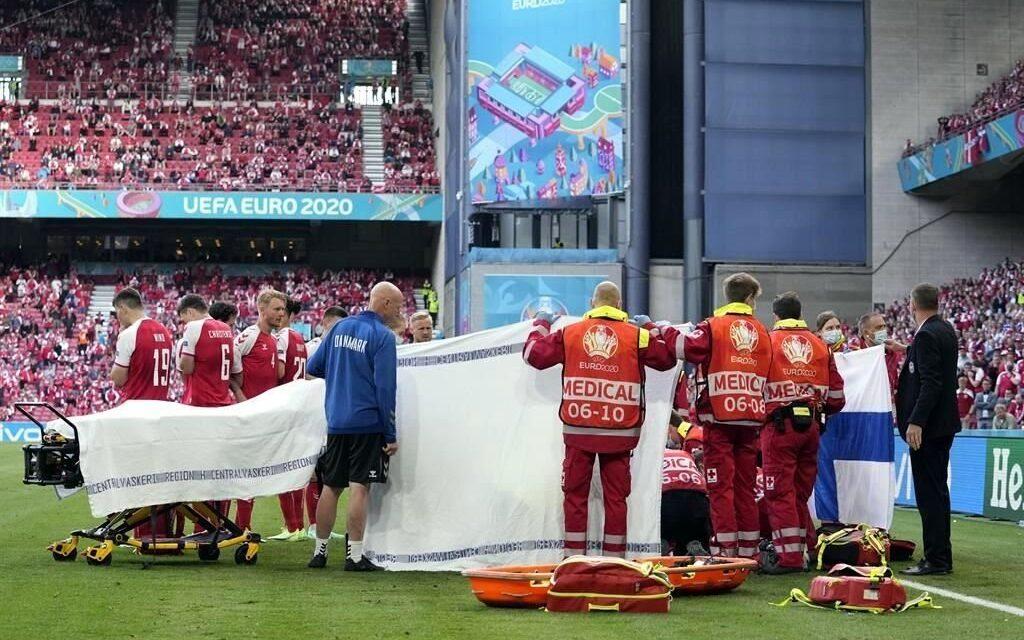 El danés Christian Eriksen se desploma en pleno partido de la Eurocopa