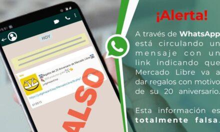 SSP y Mercado Libre advirtien sobre una estafa que está circulando por WhatsApp