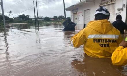 Desbordamiento del río Los Perros, las partes bajas de Juchitán Oaxaca inundadas