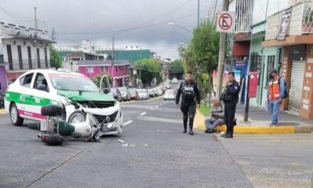 Motociclista lesionado en la avenida 20 de Noviembre