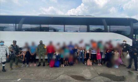 Rescata SSP a 25 migrantes hondureños, en Agua Dulce