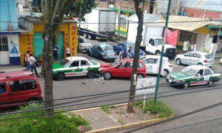 Accidente de tránsito en la avenida Villahermosa