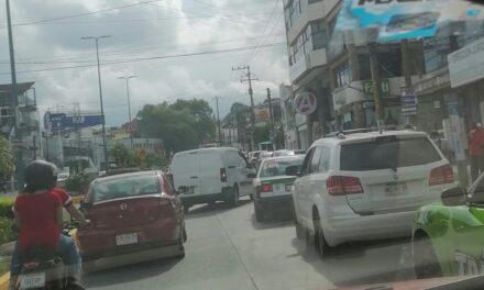 Accidente de tránsito sobre la avenida Murillo Vidal esquina Río Tecolutla