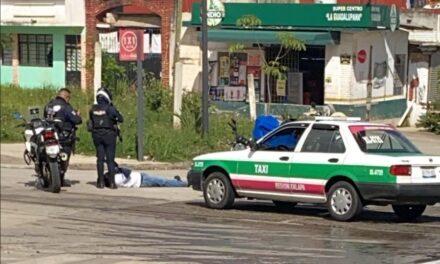Motociclista lesionado en accidente de tránsito en Xalapa
