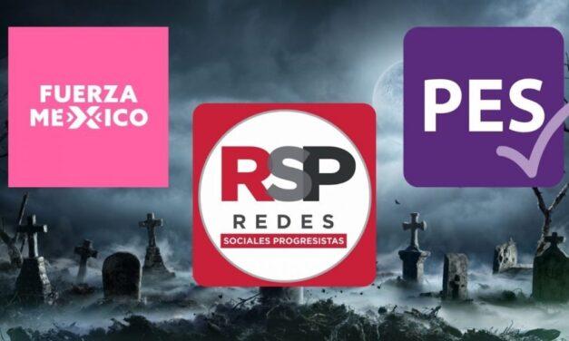 RSP, PES y Fuerza Por México podrían tener las horas contadas Estos partidos necesitan reunir el 3% de los votos