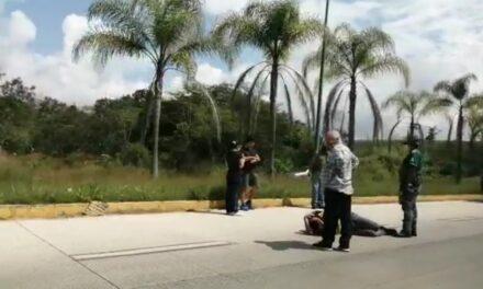 Video: Motociclista lesionado en accidente sobre la carretera Xalapa – Coatepec