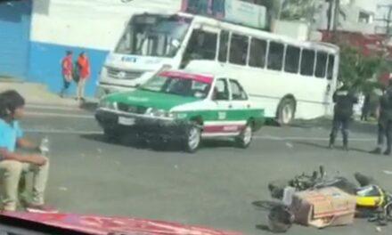 Motociclista lesionado en accidente sobre la avenida Ruiz Cortines, Xalapa