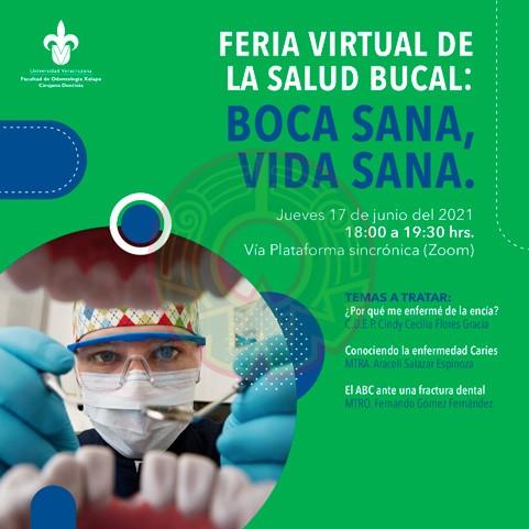 La Facultad de Odontología realizó la Feria Virtual de Salud Bucal