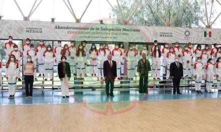 Abanderamiento de la Selección Mexicana que va a Tokyo2020