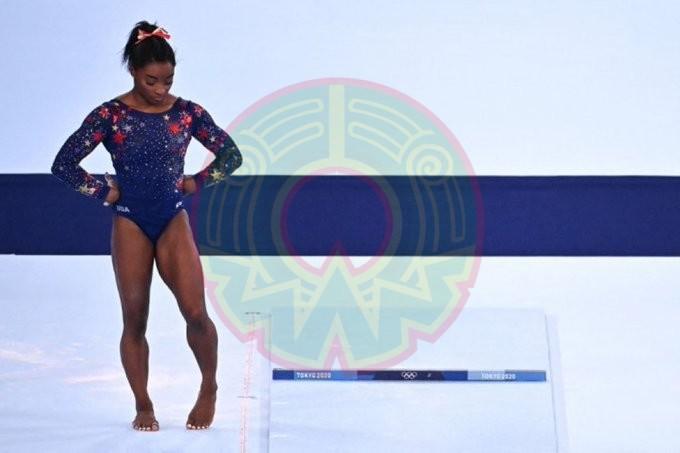 Simone Biles se retiro de la prueba por equipos en la gimnasia en Tokio 2020