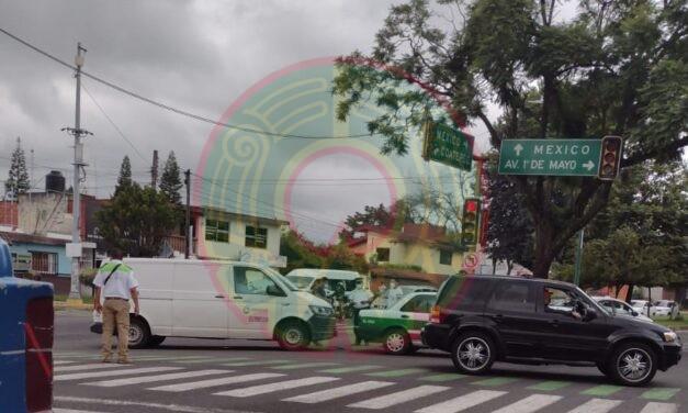 Accidente de tránsito sobre la Avenida Ruiz Cortines, Xalapa