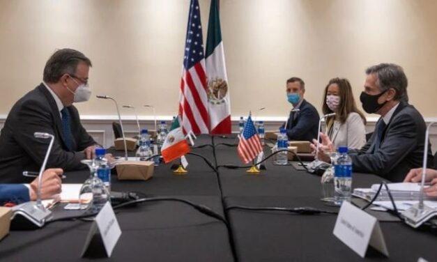 Antony Blinken agradece a Ebrard los esfuerzos de México para abordar la migración