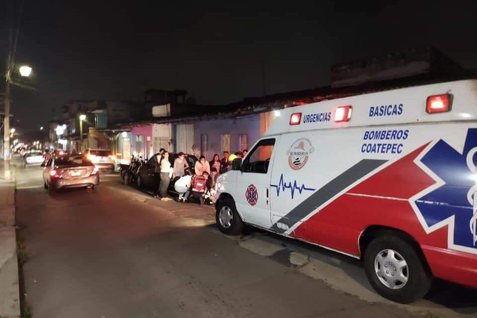 Trasladan a hospital a menor que sufrió caída en bicicleta en Coatepec