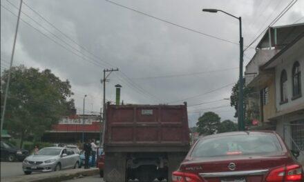 Choque en la avenida Rébsamen, Xalapa
