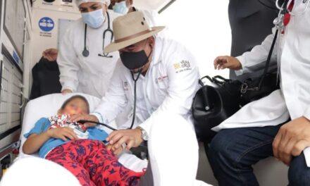 Jacobo, niño de Veracruz envenenado, se salvó y fue trasladado a su casa.