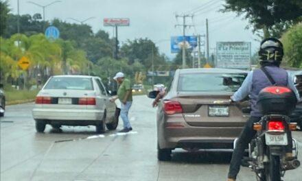 Accidente de tránsito sobre la carretera Xalapa-Coatepec, a la altura de La Florida