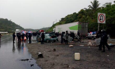 Realiza SSP operativo para liberar la carretera Coatzacoalcos-Villahermosa