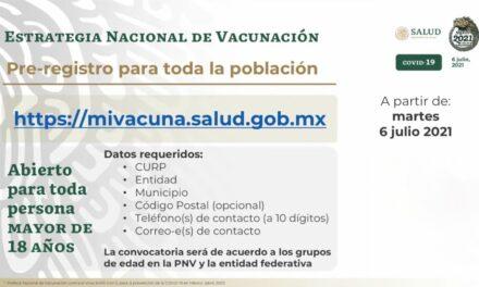 Si tienes más de 18 años, ya puedes registrarte para recibir la vacuna anticovid