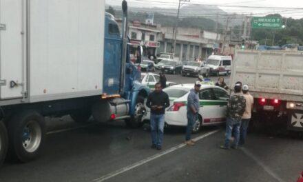 Accidente sobre el bulevar Xalapa-Banderilla