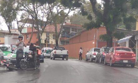 Motociclista lesionado en la avenida Miguel Alemán, Xalapa