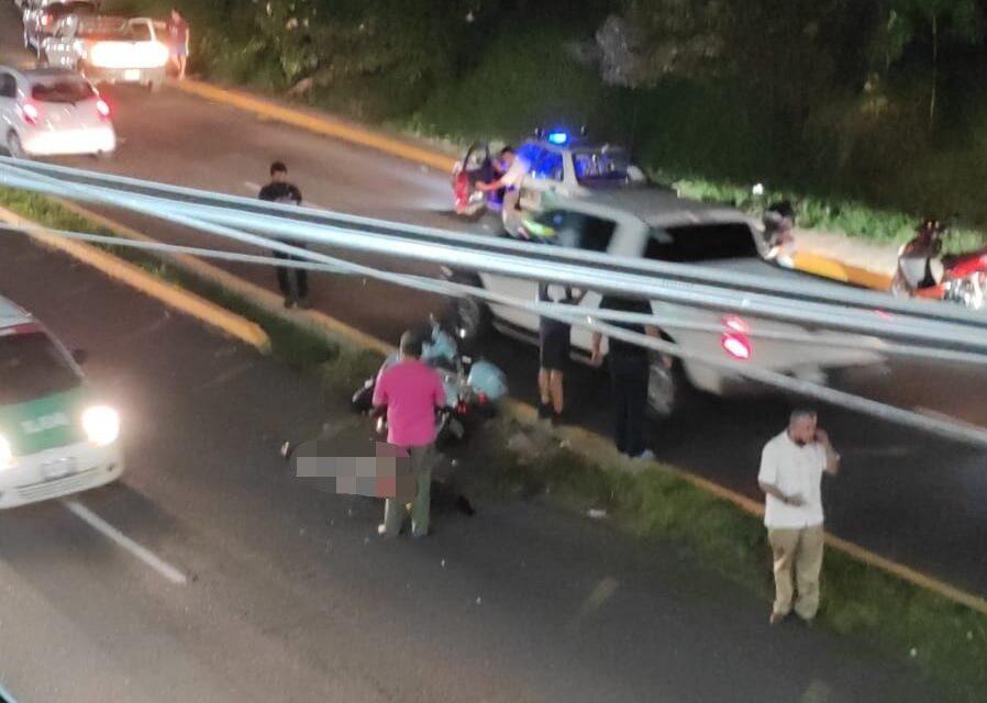 Pierde la vida conductora de moto en la avenida Rébsamen, Xalapa
