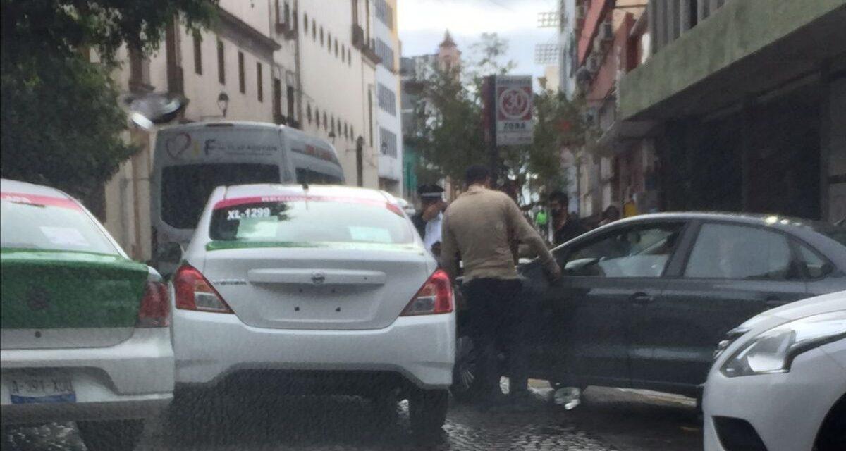 Accidente de tránsito en la zona centro de Xalapa