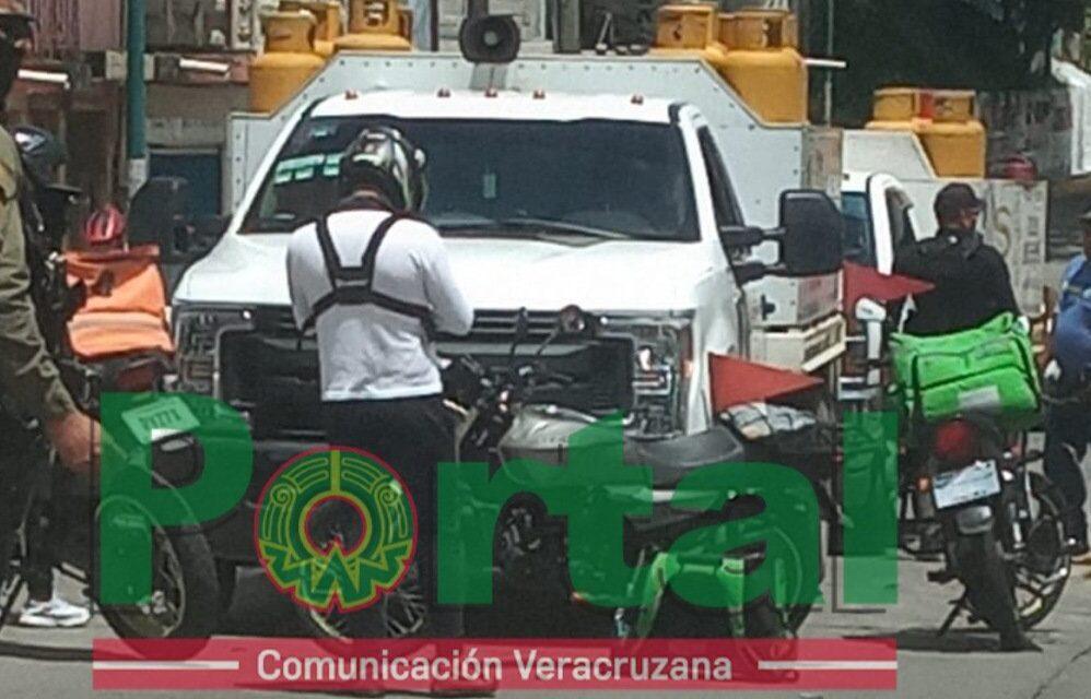 Motociclista lesionado en la avenida Rebsamen, Xalapa