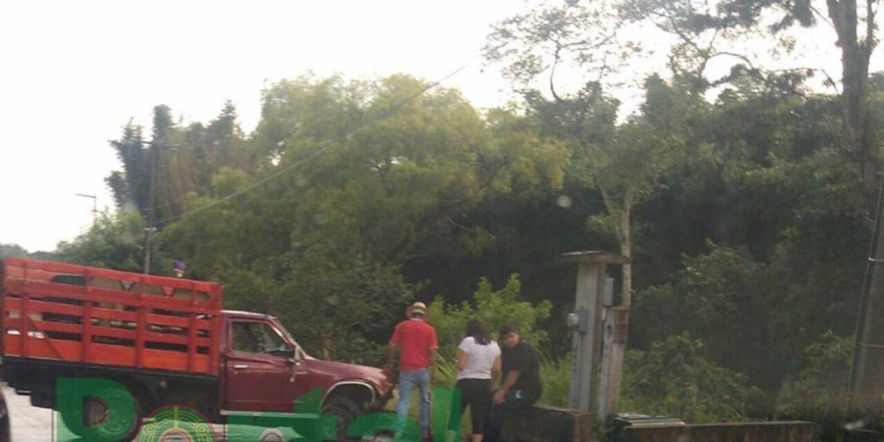 Accidente de tránsito sobre la carretera Xalapa – Coatepec