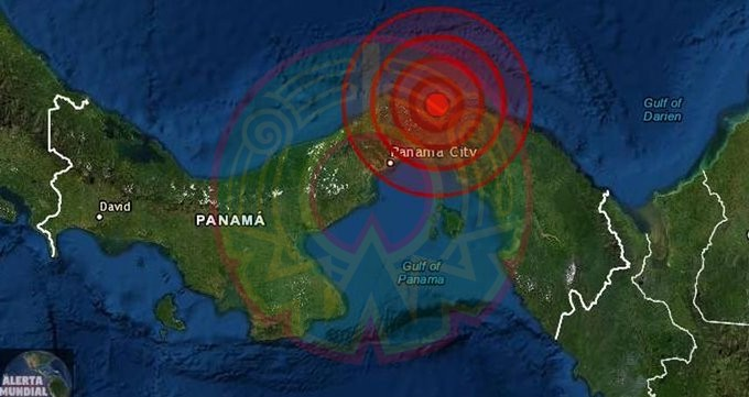 Se registra fuerte sismo de magnitud 6.8 en Panamá