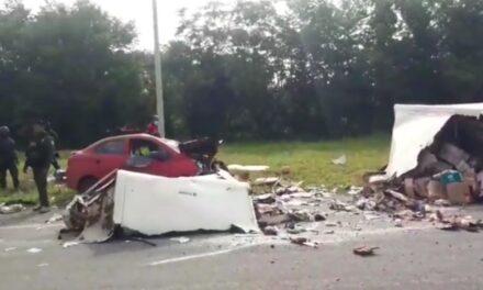 5 personas lesionadas en la carretera La Tinaja – Ciudad Alemán