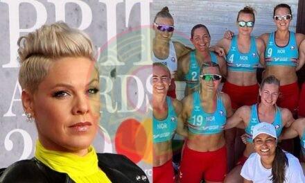 Pink se ofrece a pagar multa a equipo noruego femenino de handball por negarse a usar bikini