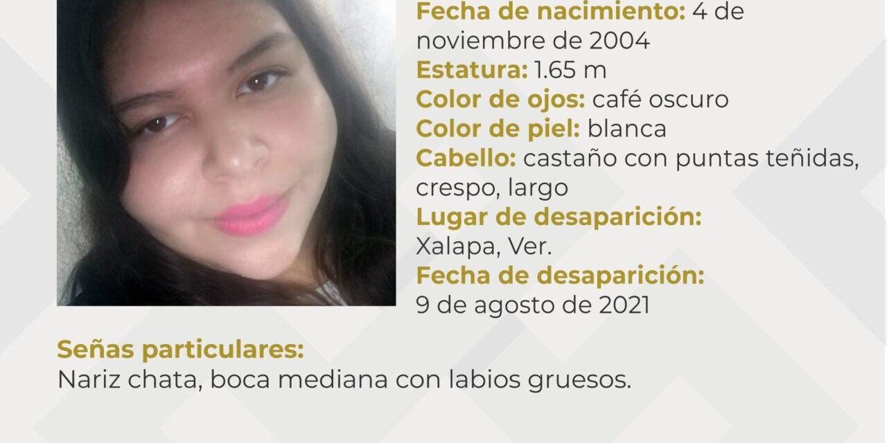 Desaparece adolescente de 16 años en Xalapa
