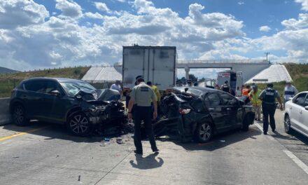 Precaución por accidente en la autopista Puebla-Córdoba