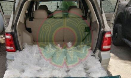 GN asegura más de 30 kilos de crystal en carretera Mazatlán-Culiacán