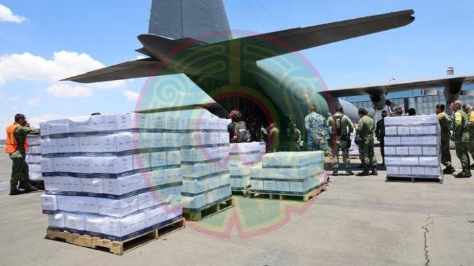 Llegan aviones del Ejército mexicano a Haití con 19 toneladas de ayuda humanitaria: Protección Civil